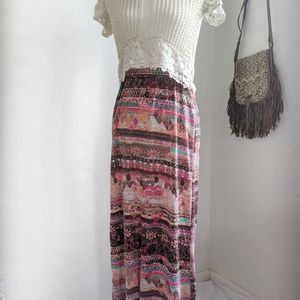 Just be Chinle Pattern Multicolored Skirt